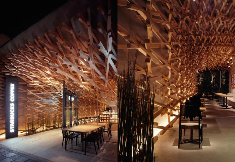 Starbucks interior by Kengo Kuma | showme design