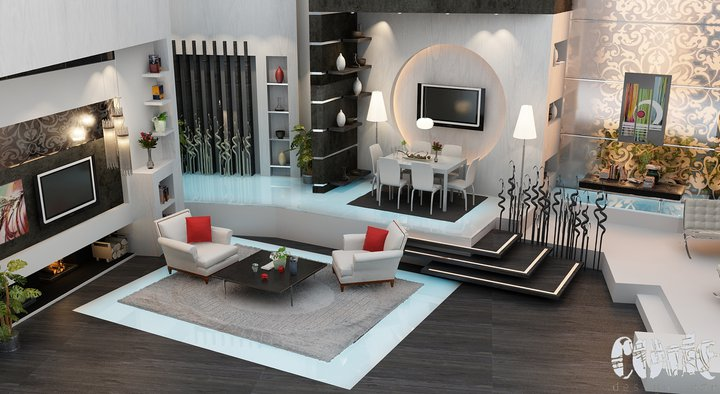Modern Living Room Designs 2012