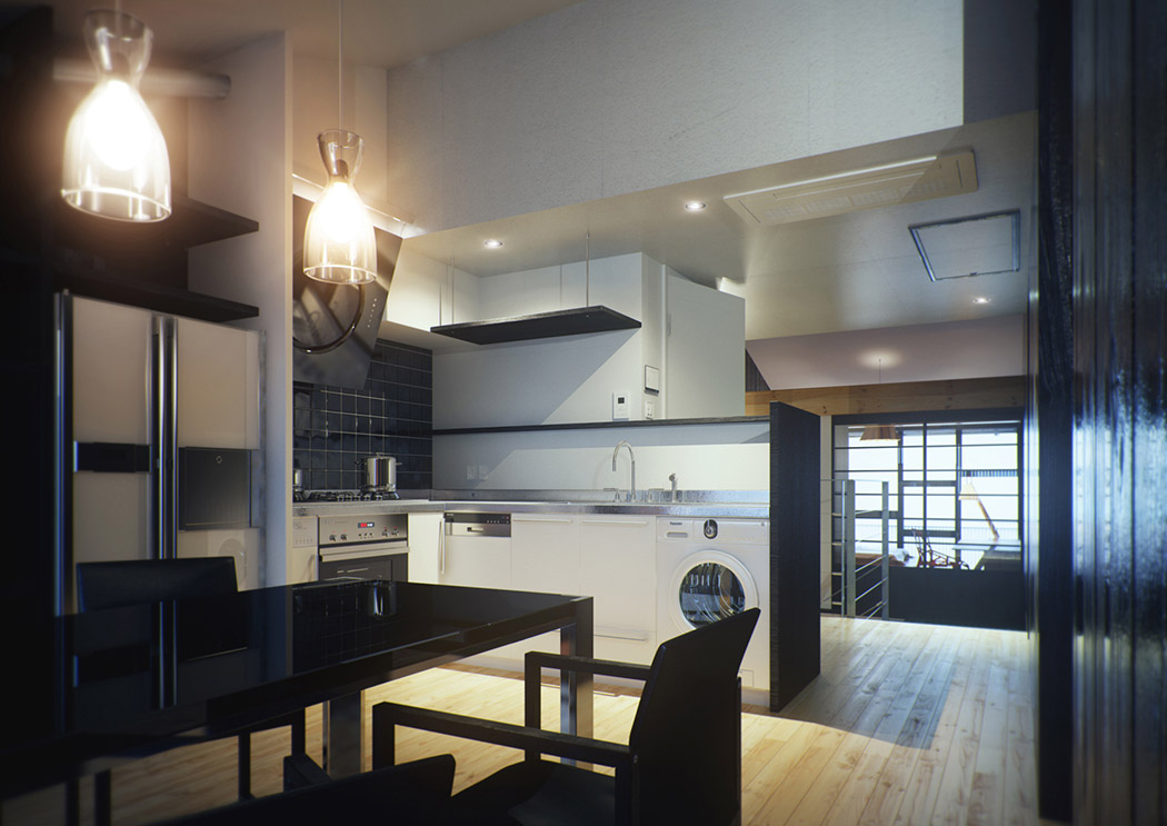 Modern japanese home showme design for Japanese style kitchen interior design