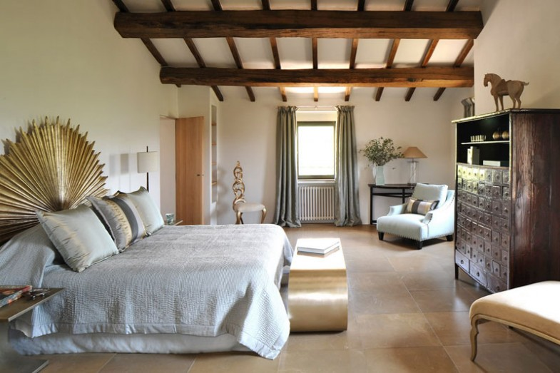 Country Chic Bedroom Decorating Ideas: Transitioned Italian Farmhouse