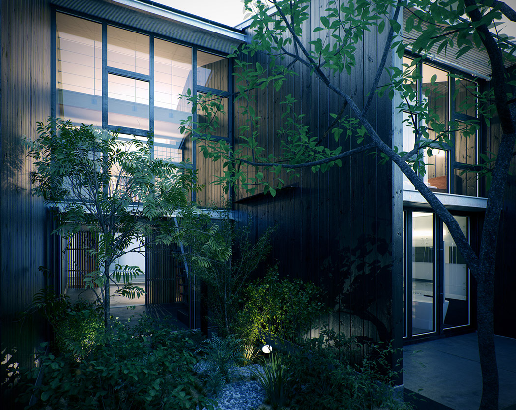 Glass facade - View Small Modern Asian House Design  Gif