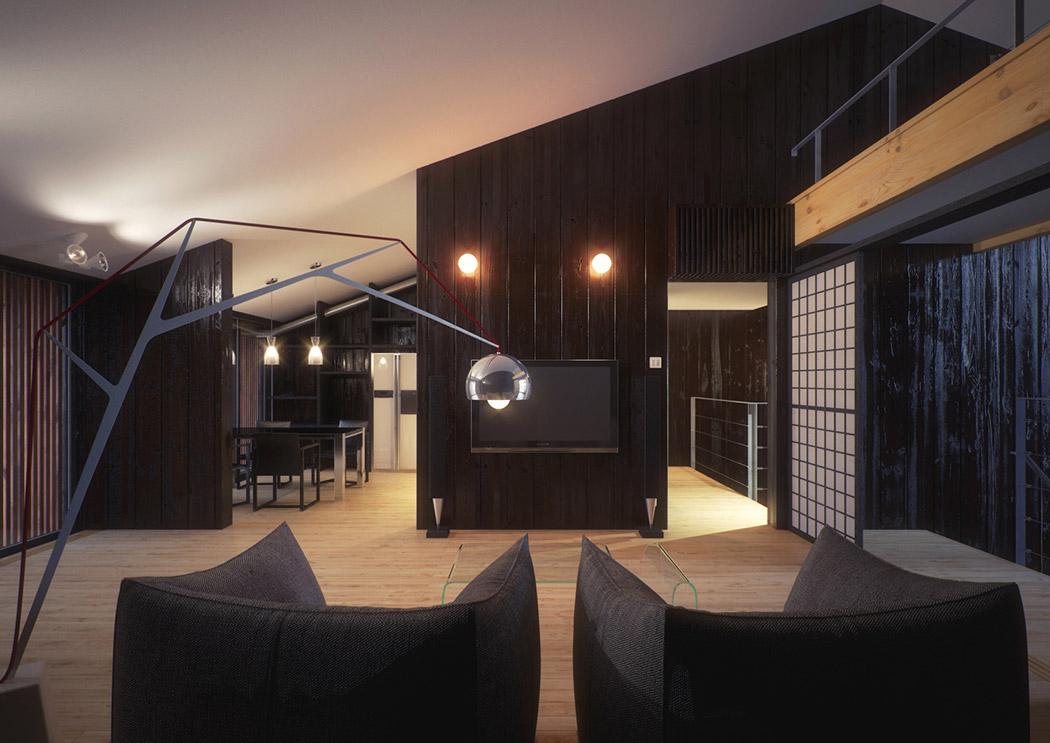 Modern japanese home showme design for Modern japan living room