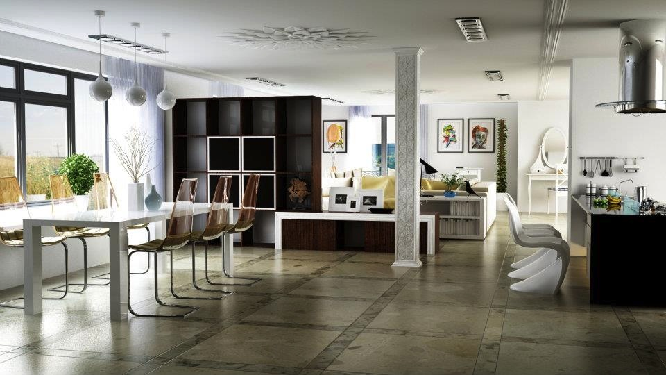 Youthful interiors showme design for Open space interior design