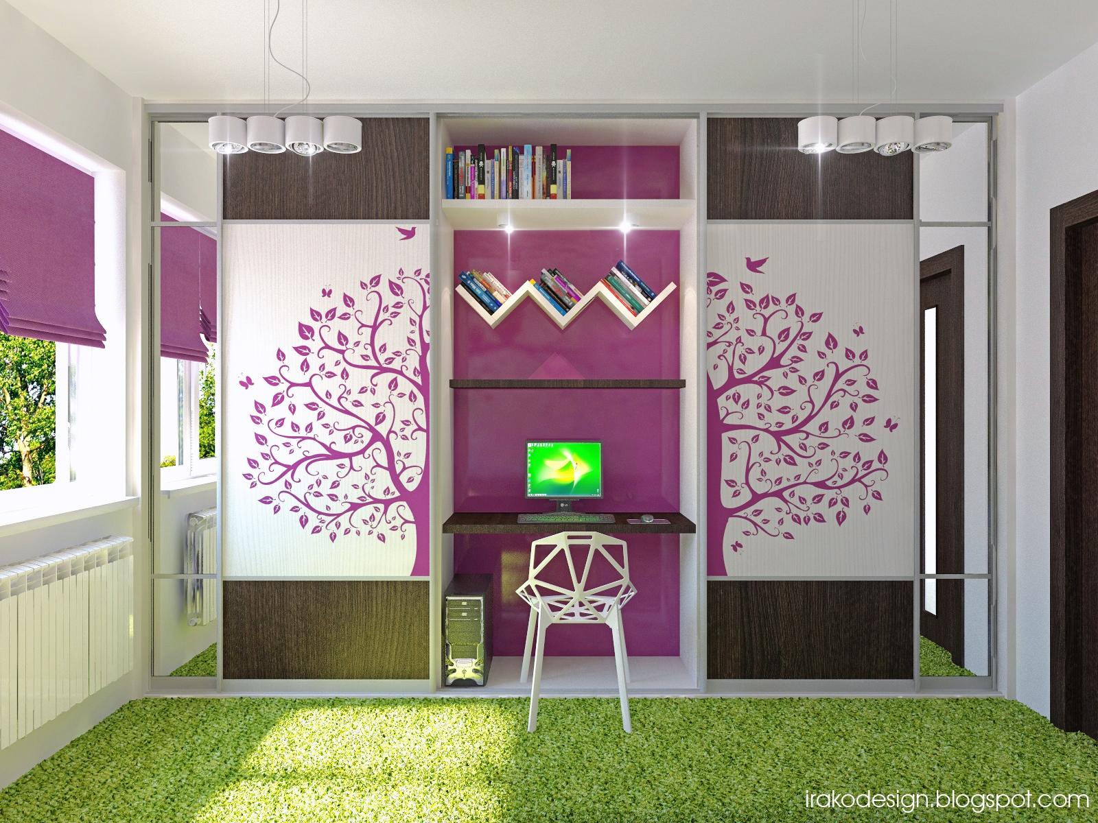 Girls bedroom inspiration showme design for Green and purple bedroom designs