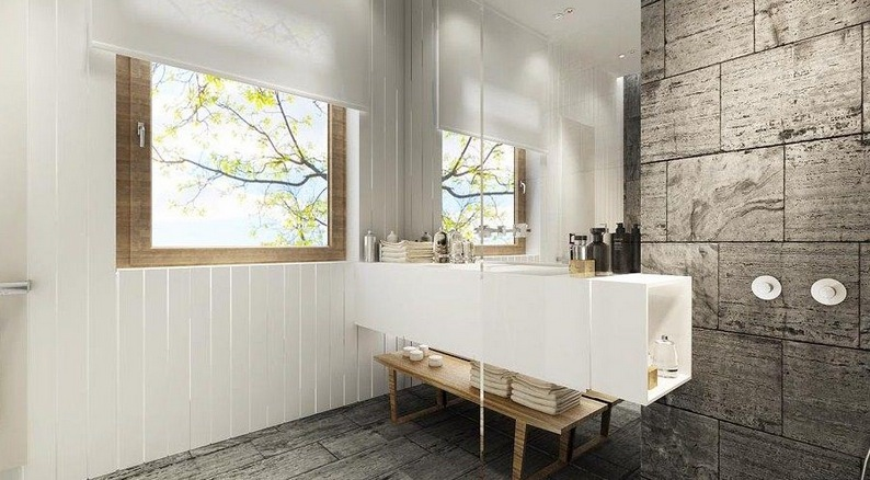 Contemporary home designs showme design for Bathroom decor 2012