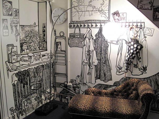 Marker drawn murals by charlotte mann showme design for Drawing mural on wall