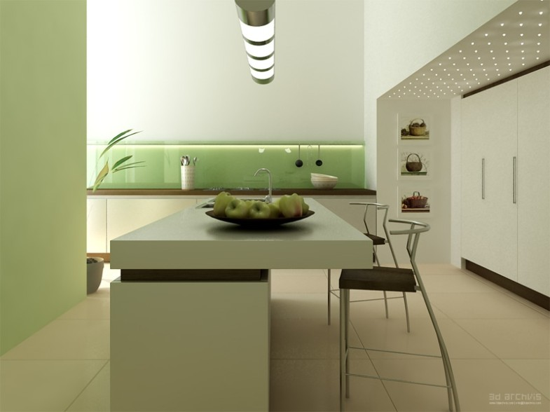 minimalist-kitchen-with-dining-island
