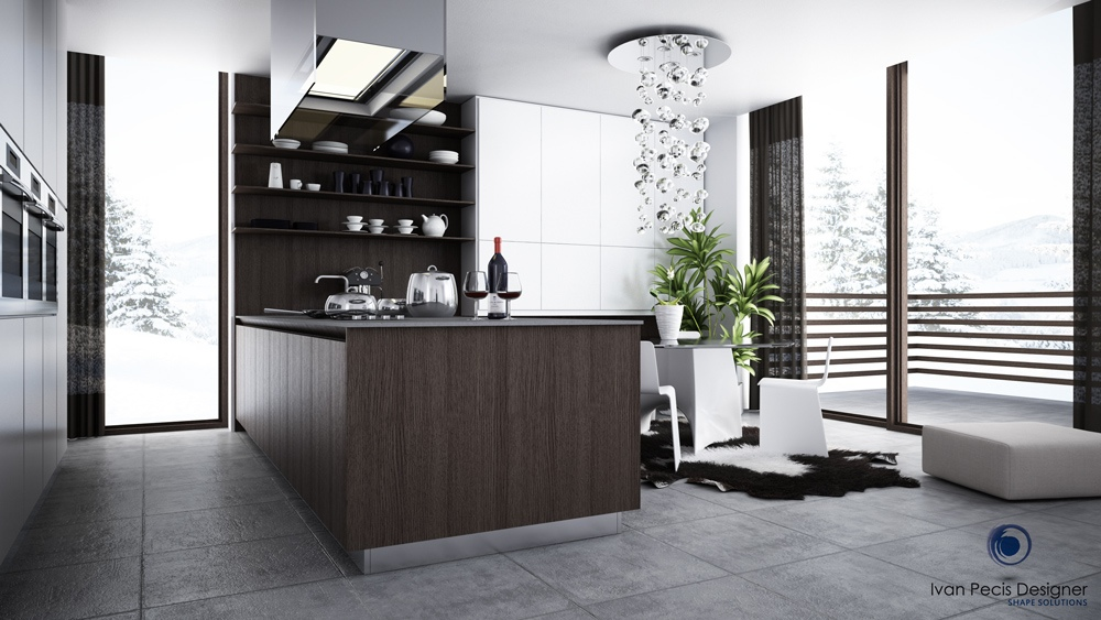 Modern eat in kitchen designs showme design for Modern dining area ideas