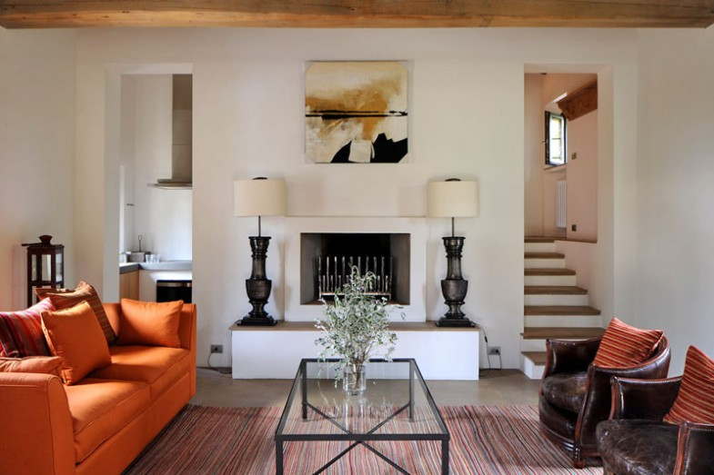 Designing And Decorating The Orange Living Room For The: Transitioned Italian Farmhouse