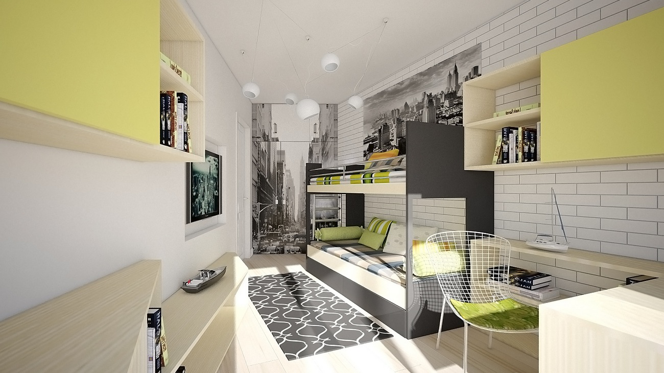 wonderful gray green bedroom bedding | Colorful Kids Rooms | showme design