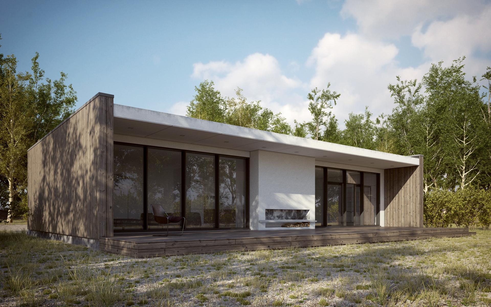 Scandinavian Summer House By 3dstudija Showme Design