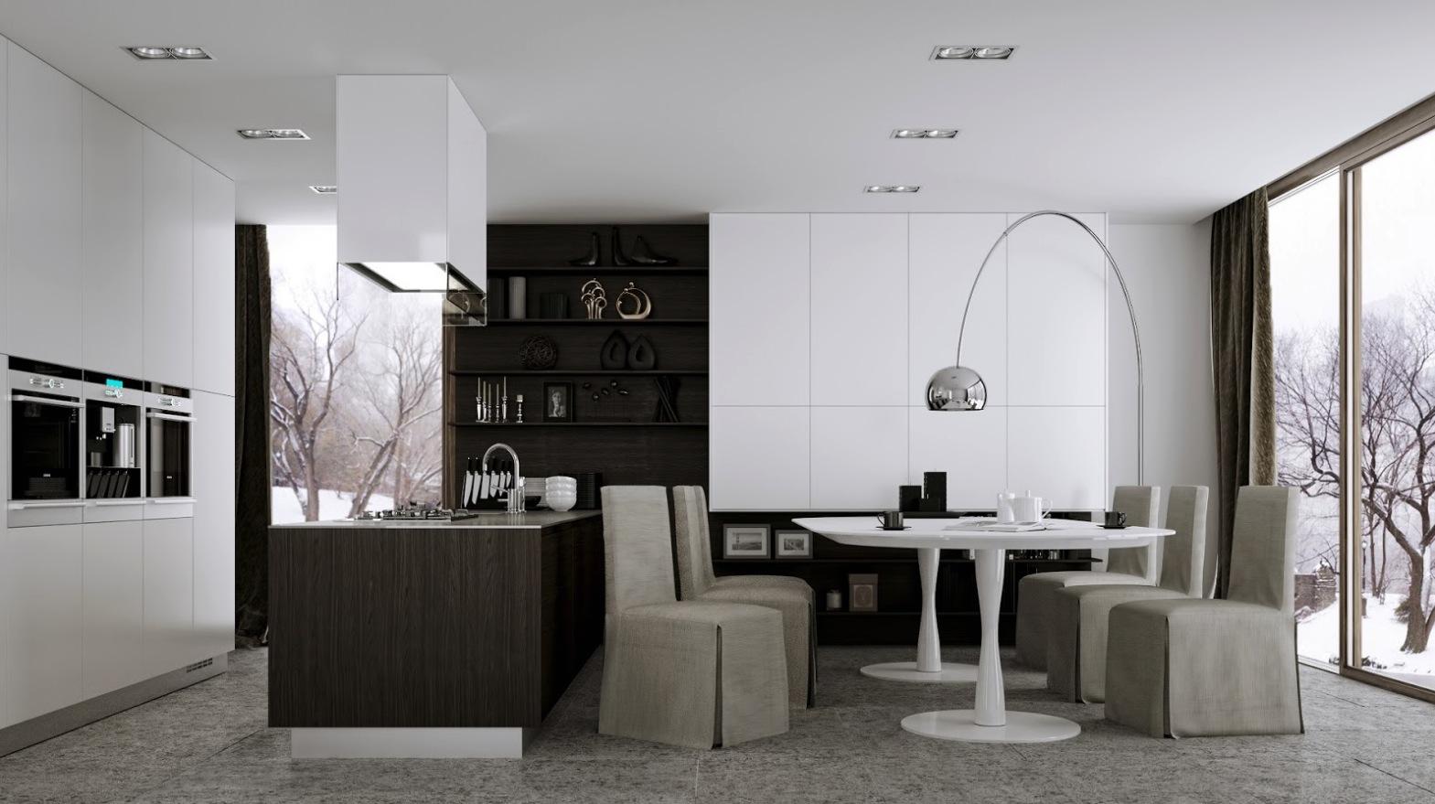 Modern Eat In Kitchen Designs Showme Design